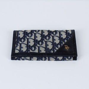 Vintage Christian Dior Check Book Bi-Fold Wallet